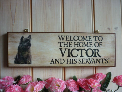 BESPOKE DOG SIGN CAIRN TERRIER GIFT OWN NAME SIGN YOUR OWN WORDING GARDEN PLAQUE