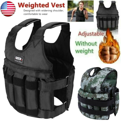 20//50kg Adjustable Weighted Workout Vest Empty Waistcoat Fitness Training Boxing