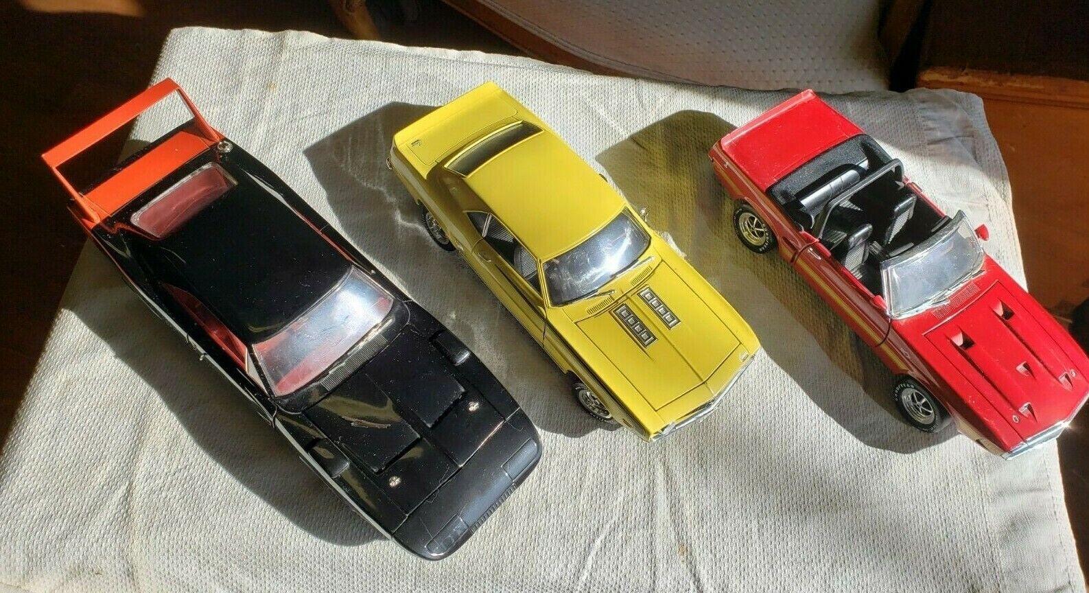 Vintage Ertl bils Lot av 3-Shelby Dodge Camaro 1 18 Gratis Ship 1969