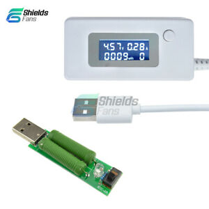 USB Load Resistors Mobile Power Module LCD Voltage Current Tester Monitor AS