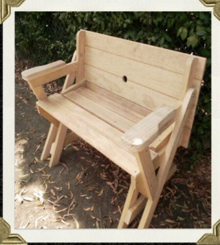 Childs Compact Folding Bench To Picnic Table PLANS ONLY Emailed To You In PDF