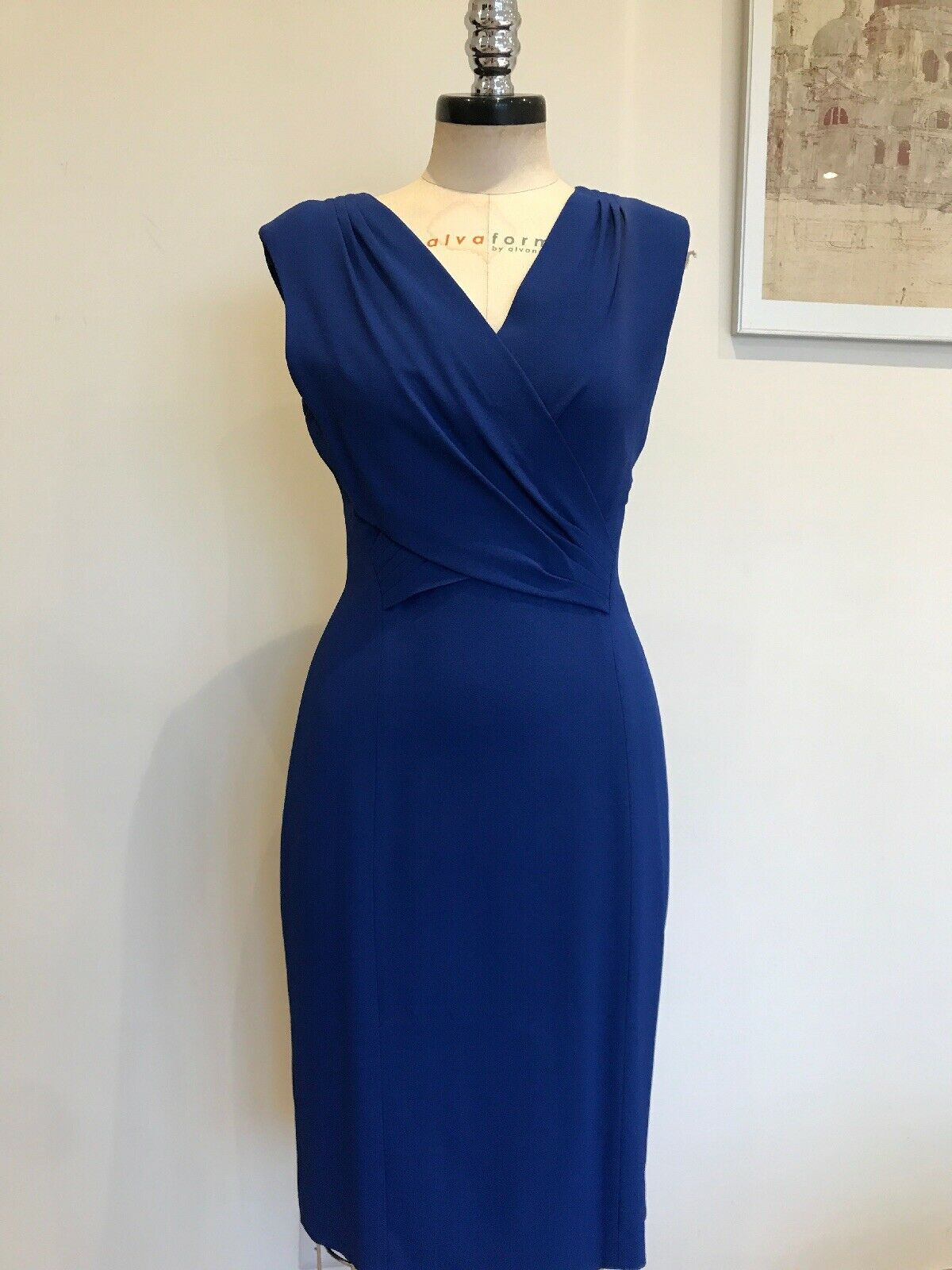 Ladies Top Designer LK Bennett bluee Dress size 12 Brand New With Tags