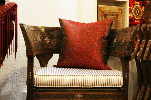 Pure Silk from Syria Elegant Deco Pillow Cases Hand Woven from damaskunst