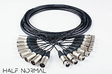8 Channel Snake 10' Foot Mogami 2932 Neutrik Silver XLR Male to XLR Female