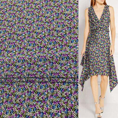 dress fabric vintage style floral print crepe de chine silk fabric pure silk fabric Silk fabric half yard by 54 wide