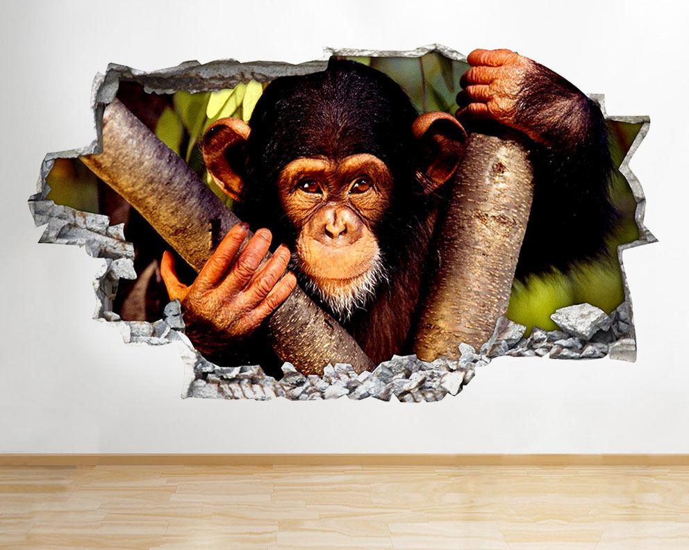 C238 Cute Baby scimmia frougeda stanza del vinile adesivo da parete camera bambini