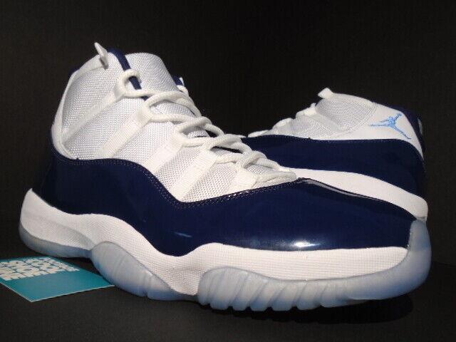 NIKE AIR JORDAN XI 11 RETRO WIN LIKE 82 WHITE UNIVERSITY blueE NAVY 378037-123 12