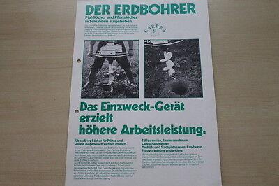 Hohe QualitäT Und Preiswert FleißIg 163487 Carbra Erdbohrer Prospekt 197