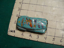 Vintage tin car COMIC CAR light blue, marked Japan