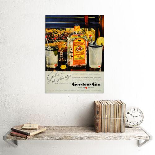 ADVERTISING DRINK ALCOHOL GIN SPIRIT BOOZE LONDON UK ART PRINT POSTER CC216