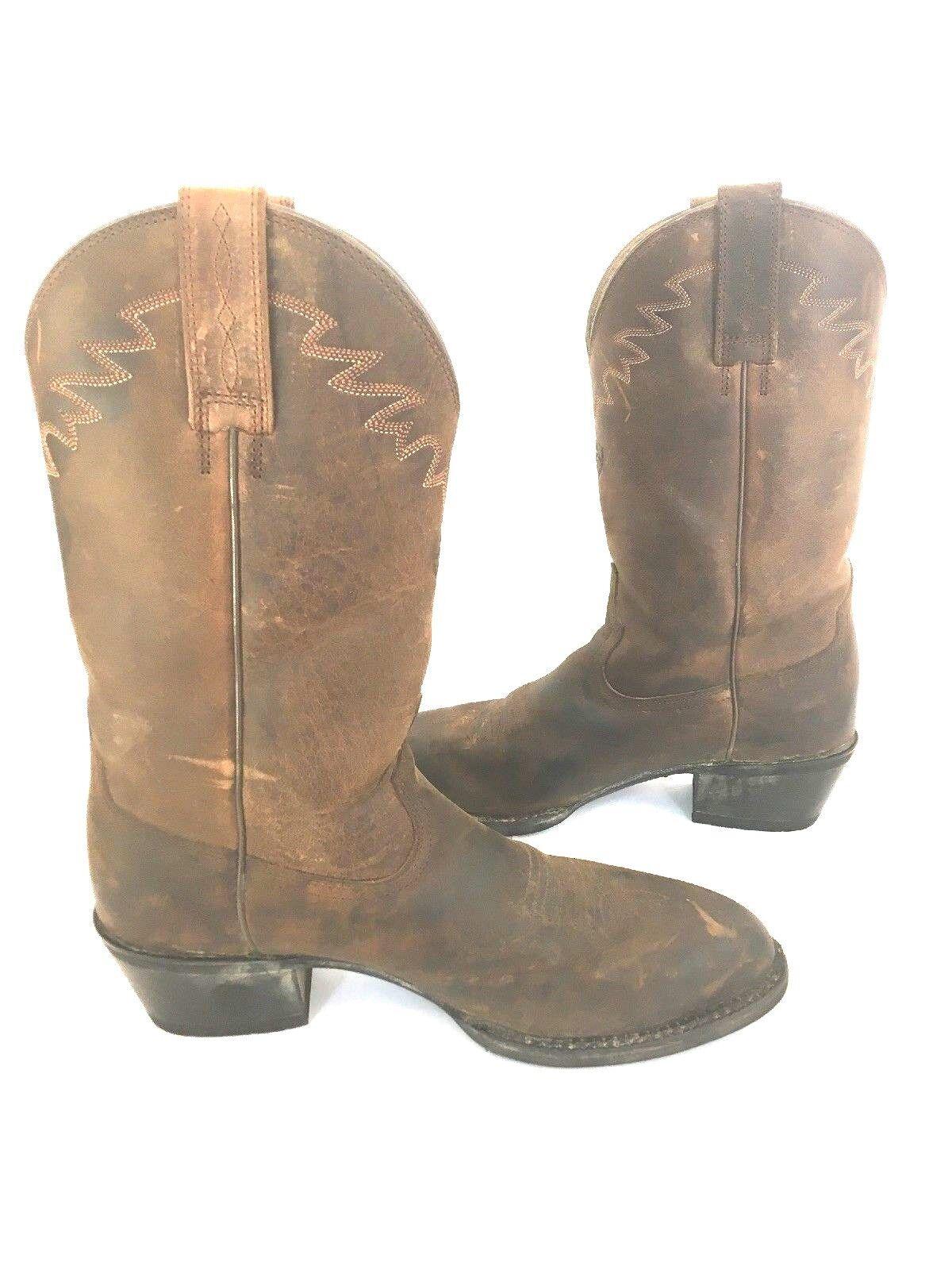 Ariat 4LR Uomo Sedona Brown Leather Cowboy Boots Distressed 10002194 Uomo 4LR Size 8 D e5c773