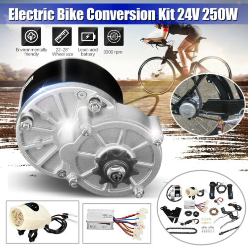 "24V 250W Electric Bike Conversion Kit Motor Controller Fit 22-28"" Common Bicycle"