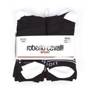 Roberto Cavalli Sport Low Cut Socks 8 Pack Fits Shoe size 6-12
