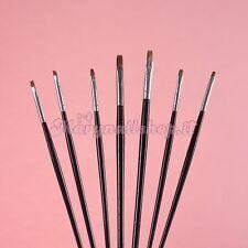 Set 7 Pennelli  per unghie ricostruzione gel nail art !