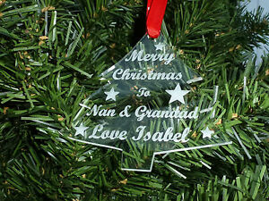 Bauble-Acrylic-TREE-shape-First-Christmas-together-engraved-Personalised