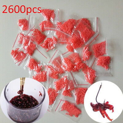 Rubber Bands Bloodworm Bait Granulator Red insect clip Fishing Accessories