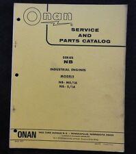 1970 GENUINE ONAN NB INDUSTRIAL ENGINE SERVICE REPAIR & PARTS CATALOG MANUAL