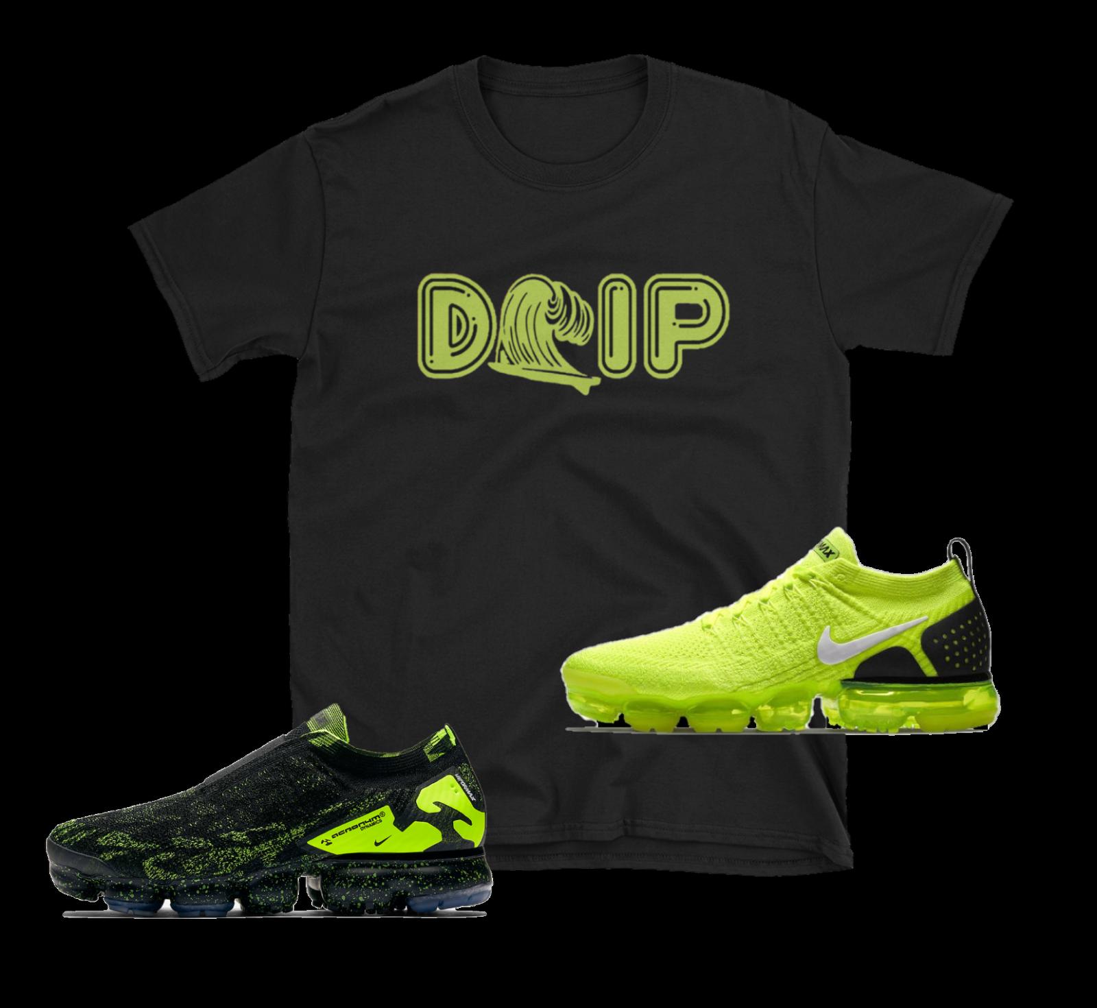 "Nike Airmax Plus Vapormax Flyknit 2 Air Max rövidítés Volt Neon Green \""DRIP\"" SHIRT"