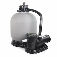 19 Sand Filter W/ 1hp Set Above Ground Swimming Pool Pump System 4500gph on sale