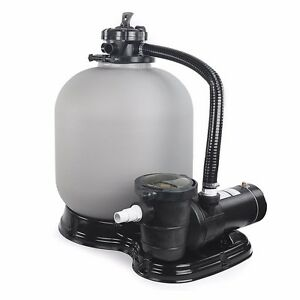 Above Ground Swimming Pool Sand Filter System With Pump 4500gph 19 1hp Ebay