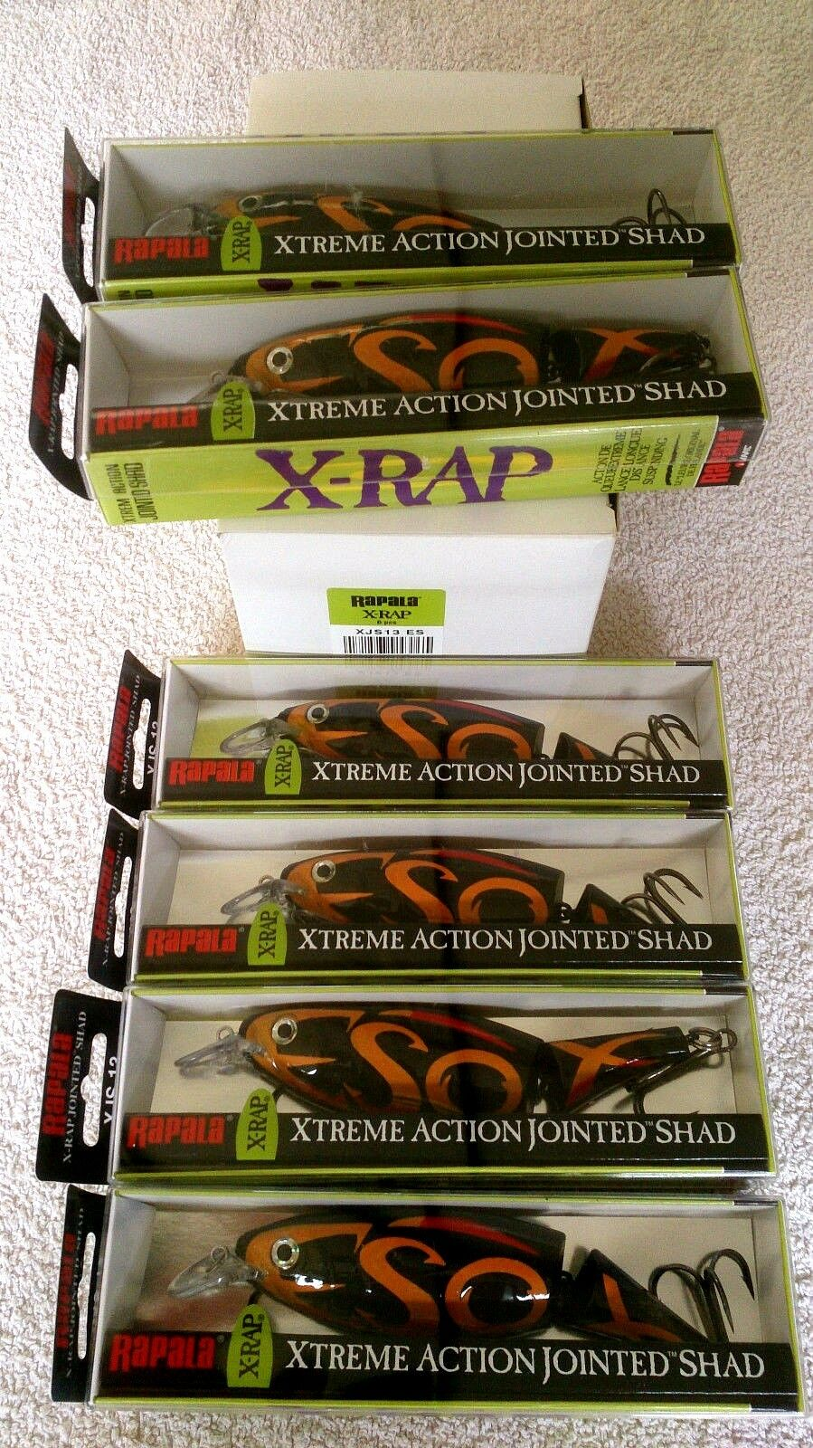6x Rapala XJS13 ESOX - XRAP Jointed Shad - Dealer Box - Limited Edition