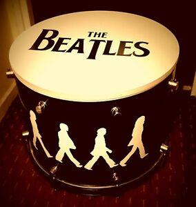* The Beatles * Sacs Bass Drum Café/side Table Avec Rangement à L'intérieur #-afficher Le Titre D'origine