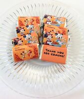 50 Disney Minnie Mickey Thanksgiving Mini Candy Bar Wrappers Party Favors