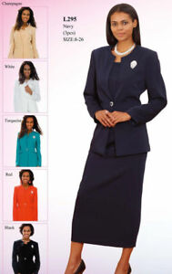 New Lady Women S 3 Piece Casual Dress Office Church Suits Set