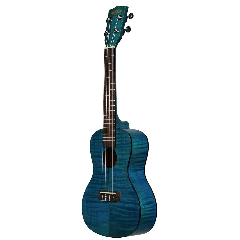 Kala Kala Kala Ka-CEMB exotic Mahogany ply Concert ukelele azul incl. bolsa 260a83