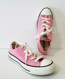 Womens-Converse-All-Star-Pink-Low-Top-Sneakers-Womens-Size-6-Mens-Size-4