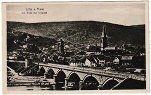 Ansichtskarte Lohr am Main am Fuße des Spessart - Ortsansicht mit Kirche/Brücke