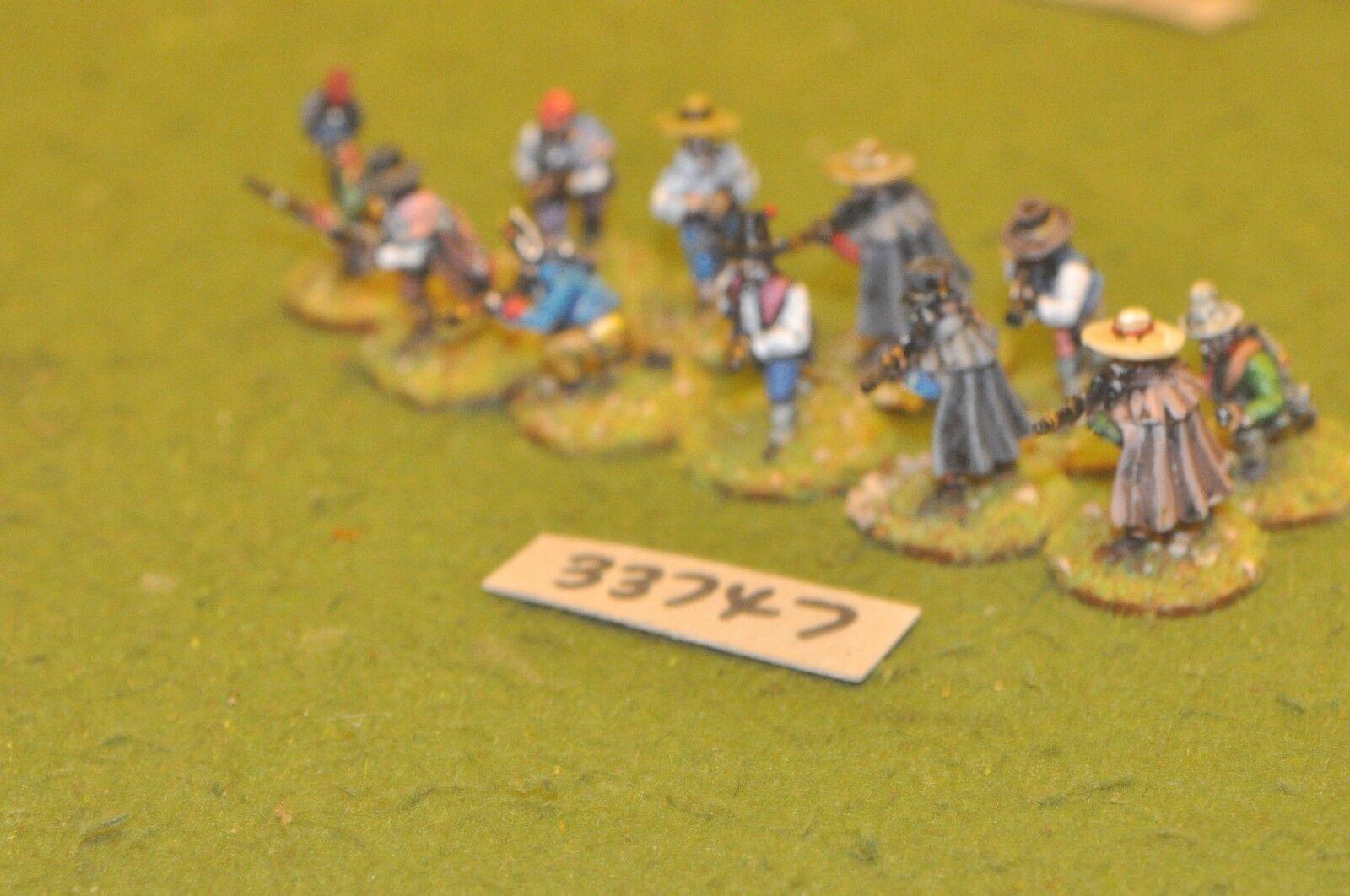 25mm napoleonic   spanish - guerillas 11 figures - inf (33747)