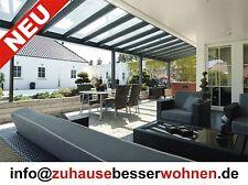 Terrassenüberdachung Carport Überdachung Aluminium Terrassendach  VSG Glas 7x4m