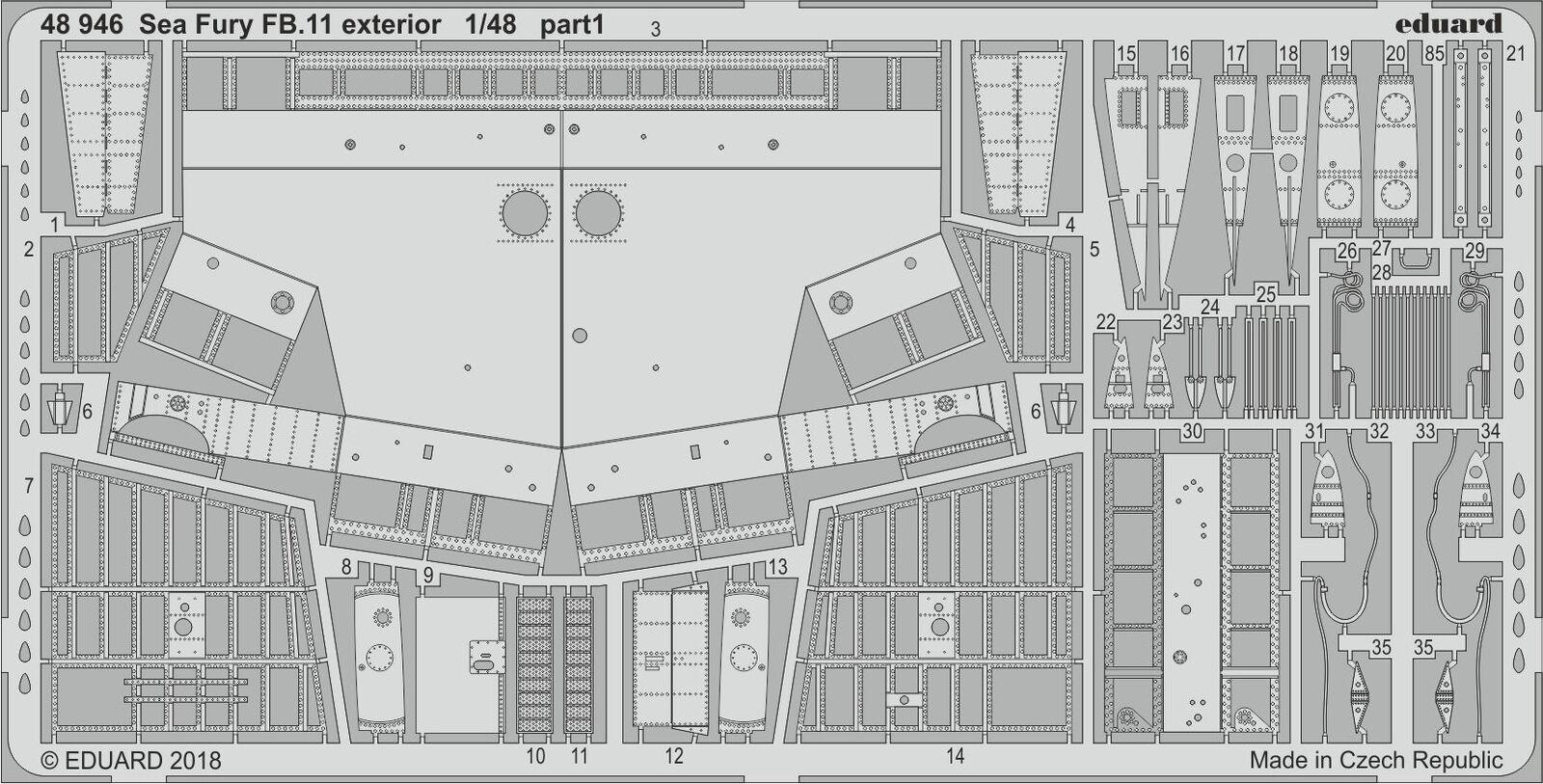 Eduard 1 48 Hawker Sea Fury Fb.11 Extérieur