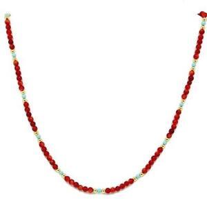 El-Coral-Collar-Coral-Rojo-Bolitas-Pasta-Turquesa-y-Bolitas-Doradas