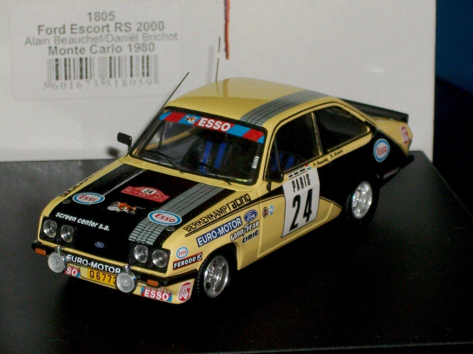 Ford Escort MK2 RS2000  24 MonteCochelo 1980 Trofeu 1805 1 43