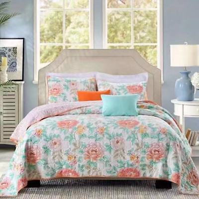 Home & Garden Quilts, Bedspreads & Coverlets Able Reversible Quilted Bedspread/coverlet Queen Size 3pcs Set 230x250cm 1602 For Fast Shipping