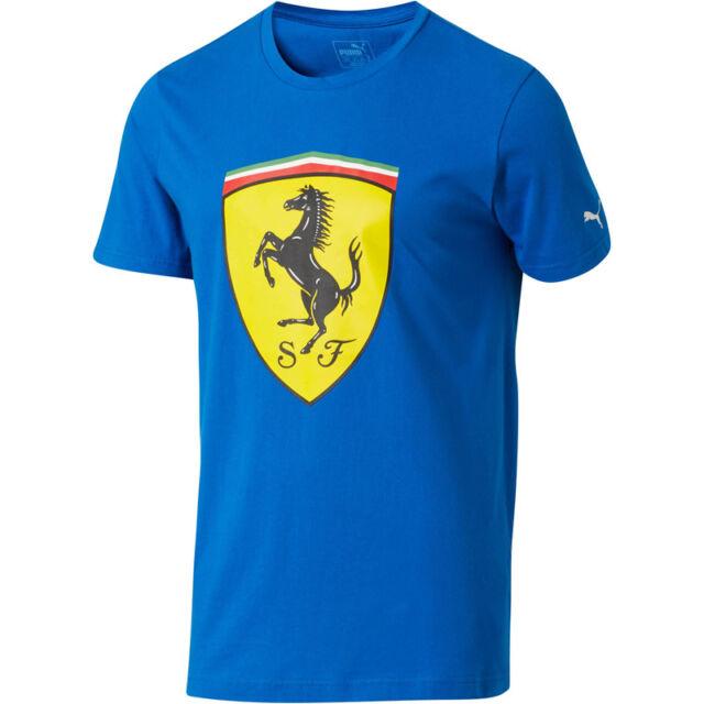 dcfcfa814 Puma Scuderia Ferrari Big Escudo logo azul T-SHIRT MOTORSPORT Fórmula 1  NUEVO