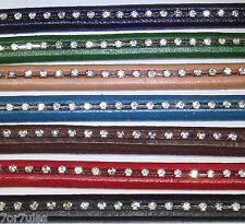 4 Pezzi di pelle 20cm Per Perline Liquirizia 10mm A113A Bigiotteria Leather Cuir