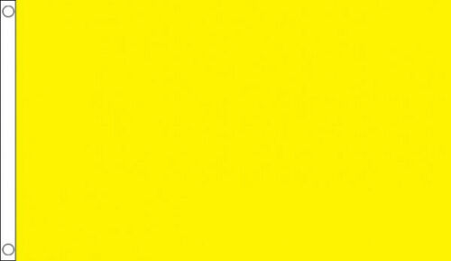 3/' x 2/' Plain Yellow Flag Blank Print Your Own Design Banner