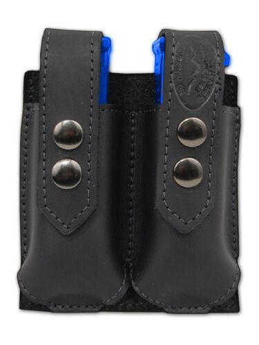 NEW Barsony Black Leather Double Magazine Pouch Colt Beretta Full Size 9mm 40 45