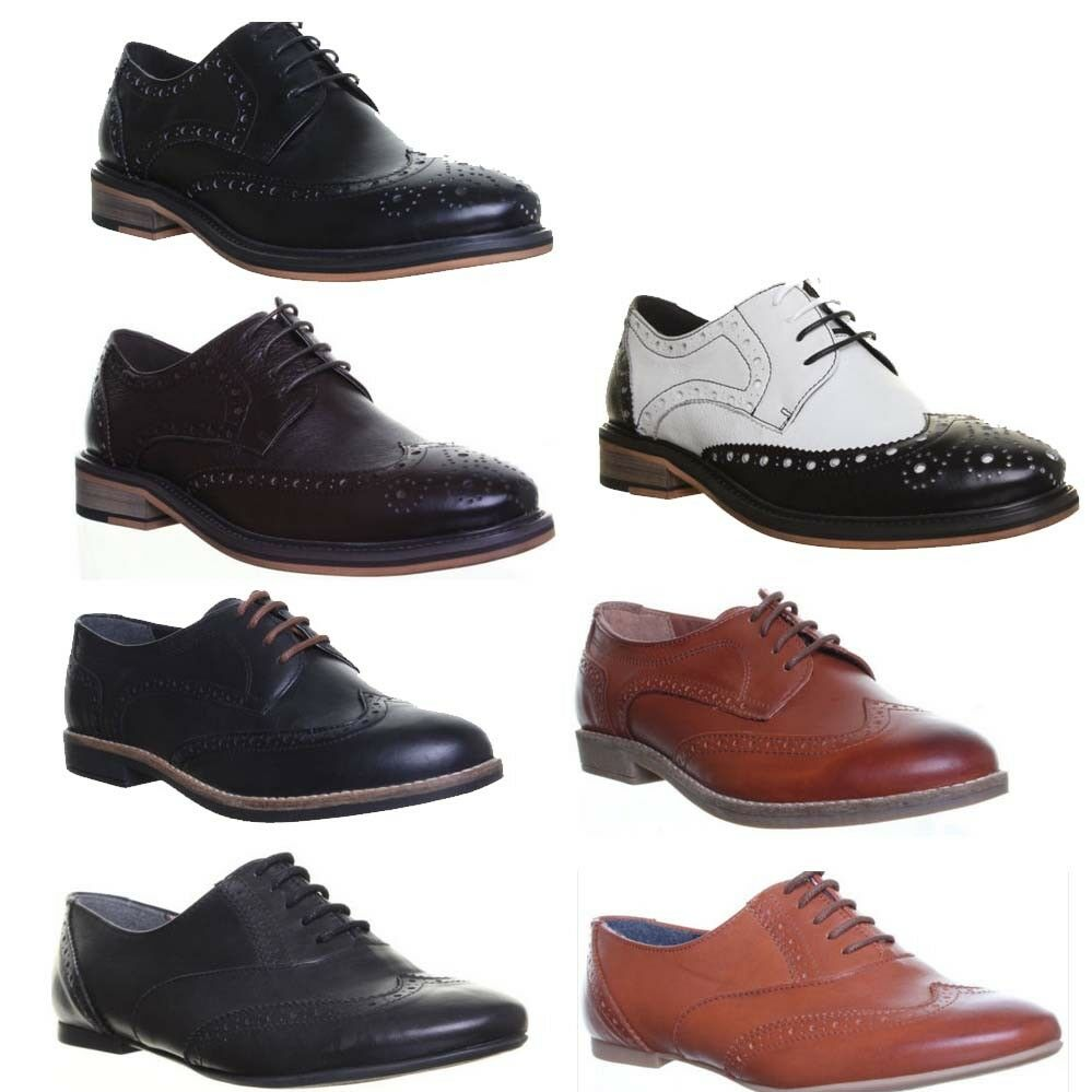 Womens Thick Sole Round Toe shoes Office Brogue shoes UK Size 3 - 8