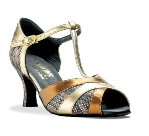 """Ladies All Colours Social Ballroom Dance Shoes 2 Or 2.5/"""" Heel By Topline EMILY"""