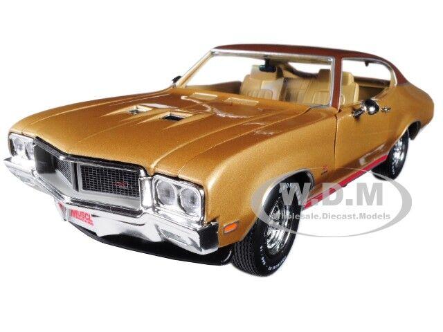 1970 Buick Skylark GS Hemmings muscular máquinas oro Limited 1 18 Autoworld AMM1105