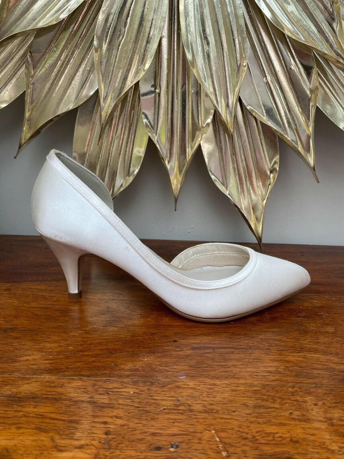 New Rainbow Club Abbie, Wedding Shoes, Ivory Satin. UK3/36