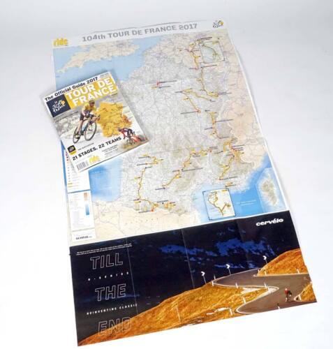 Giant Map Poster Australian Edition 2017 TOUR DE FRANCE Official Race Guide