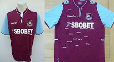 2012-13 West Ham United Heimtrikot Signiert von Kader inklusive Carroll,Reid &