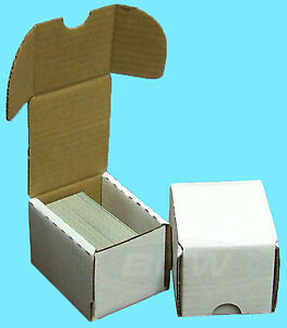 5-BCW-100-COUNT-CARDBOARD-STORAGE-BOXES-Trading-Sports-Card-Holder-Case-Baseball