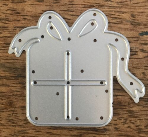 Metal Cutting Die PRESENT WITH BOW Gift Birthday Christmas J06