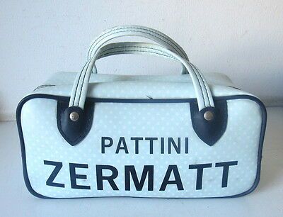 Onesto Vecchia Borsa Sportiva Pattini Zermatt - Anni 70 - Vintage